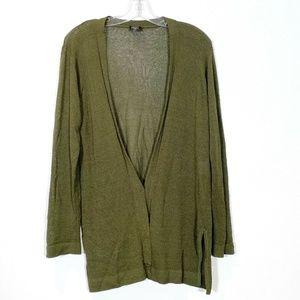 Eileen Fisher Cardigan Sweater Wool Knit V Neck